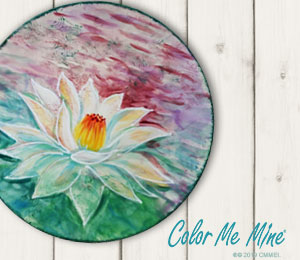 Pittsburgh Lotus Flower Plate
